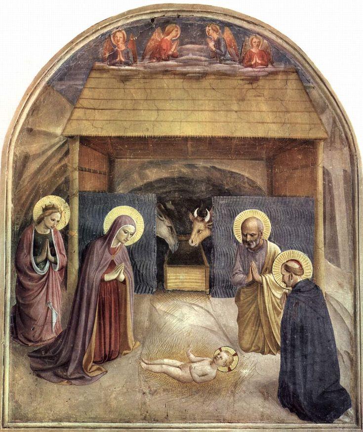 "Fra Angelico (1400-1455) - ""La Nativité"" - Couvent San Marco, cellule V - Florence, Italie."