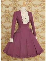 Old rose lolita dress