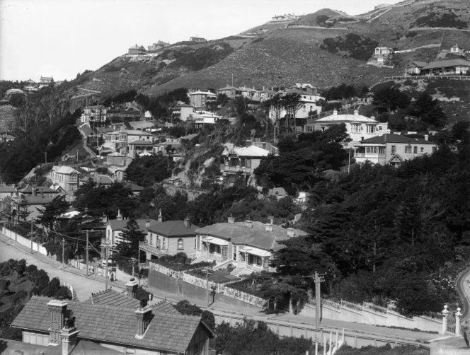 Houses at Oriental Bay, Wellington