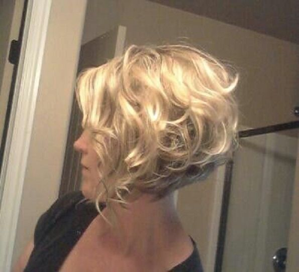 Cute Stacked Curly Bob Hairstyles