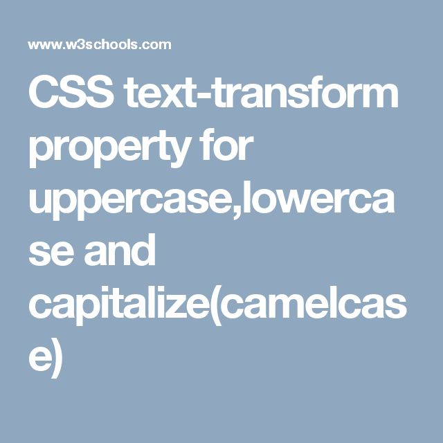 CSS text-transform property for uppercase,lowercase and capitalize(camelcase)