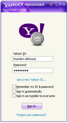 Ready to sign in to Yahoo Messenger?  In order to complete the Yahoo sign in, you need an ID and password.  Find out more about getting signed in to Yahoo in this illustrated tutorial.