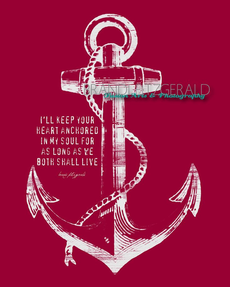 """Anchored In Happily Ever After. 8"""" x 10"""" Marriage Anchor Quote Fusion Paintographic Fine Art Print by Brandi Fitzgerald. $20.00, via Etsy."""
