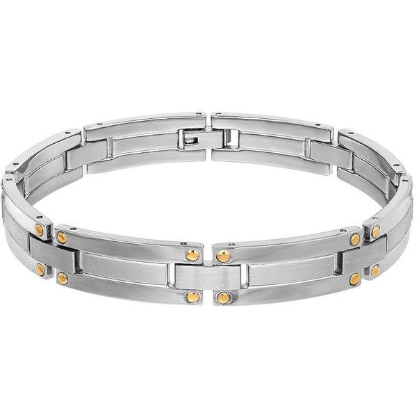 Dolan Bullock  and 18K Yellow Gold Link Bracelet (18.985 RUB) ❤ liked on Polyvore featuring men's fashion, men's jewelry, men's bracelets, sterling silver, mens yellow gold bracelets and mens gold bracelets