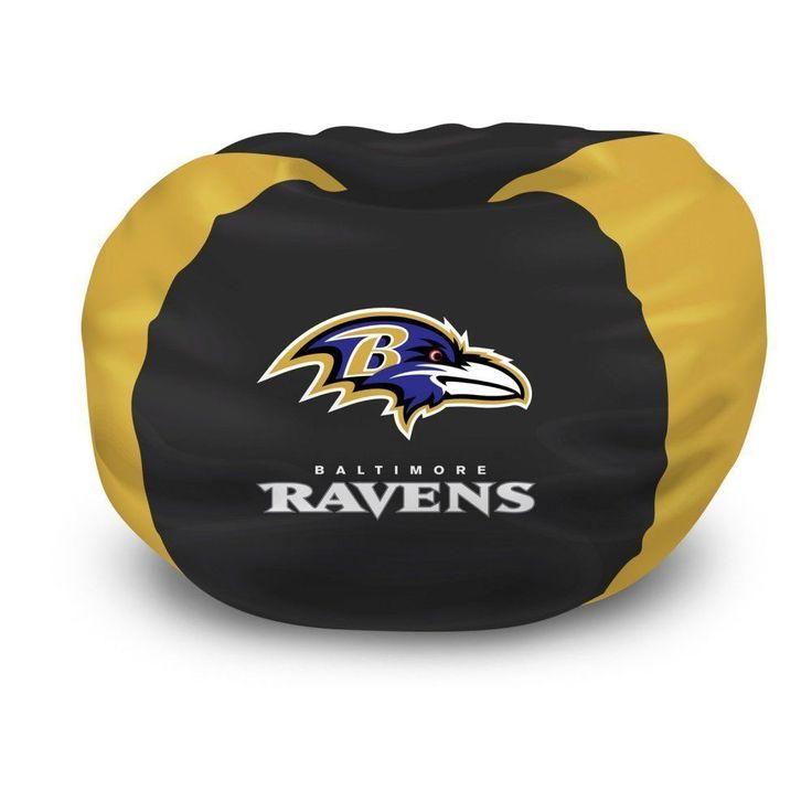 NFL Bean Bag Chair Baltimore Ravens Bedroom Football FREE SHIPPING