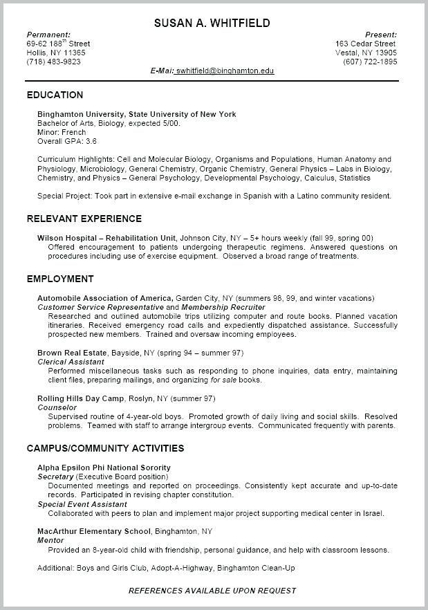 Free Example Of Resume Example Resume Format Example A Resume Fresh Student Resume Wallpapers Awesome New College Resume Template Student Resume College Resume