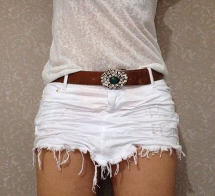 saias jeans destroyed branca