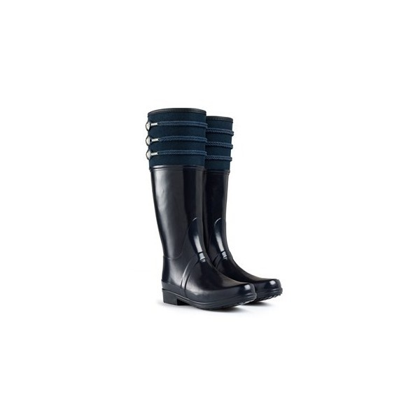 Nautical Inspired Wellington Boots | Regent Earlton | Hunter Boot ($200) ❤ liked on Polyvore