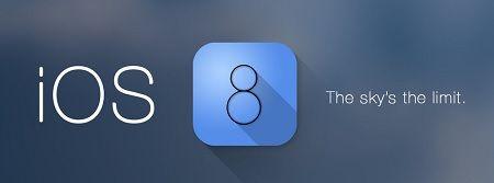 iOS'un son sürümü iOS 8 tanıtıldı