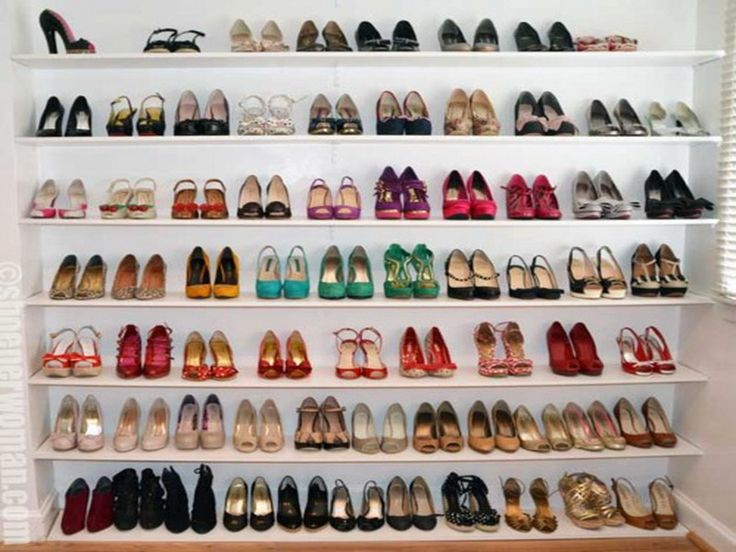 10 images about shoe room ideas on pinterest closet for Diy wall shelves for shoes