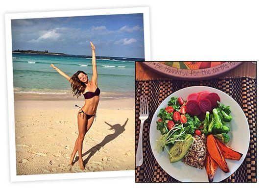 Le breakfast sain de Gisèle http://www.vogue.fr/beaute/exclu-vogue/diaporama/petit-dejeuner-equilibre-mannequins/19676/image/1037732#!le-breakfast-sain-de-gisele