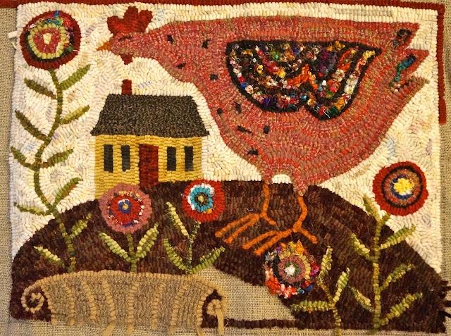 crazy chicken rug....