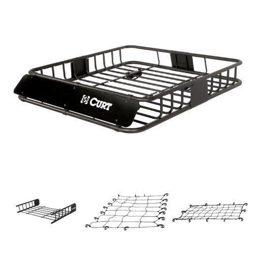 Curt Cargo Rack, Cargo Rack Extension, Cargo Net, and Extended Cargo Net Bundle