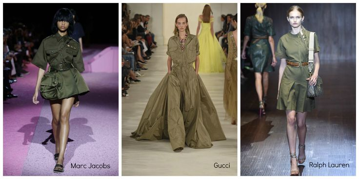 Military trend catwalks 2015