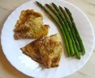 Crepes with asparagus and ham