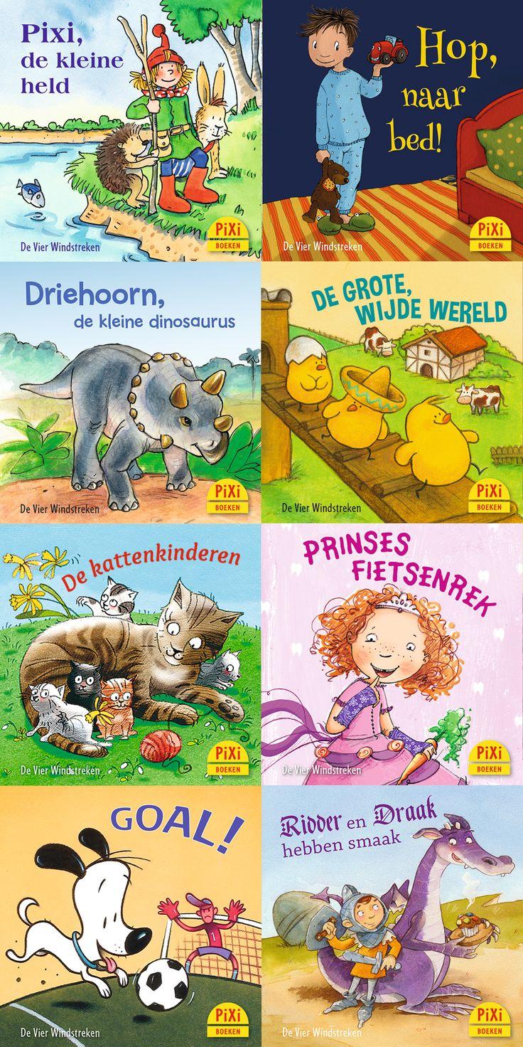 Pixi-serie 03 Pixi-pret, met acht boekjes rondom thema's als het verliezen van een tand, dino's en voetbal.