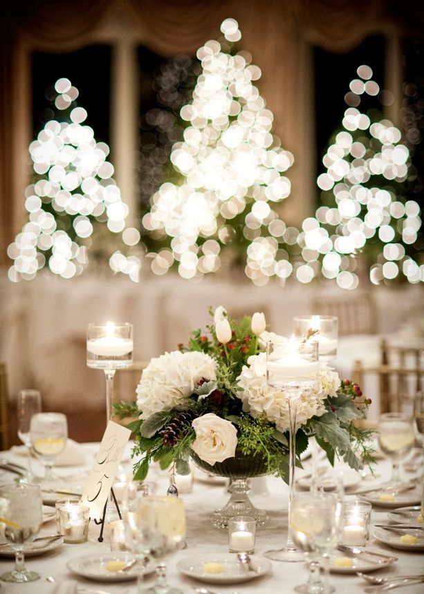 Christmas wedding at ocean cliff in newport…flowers by
