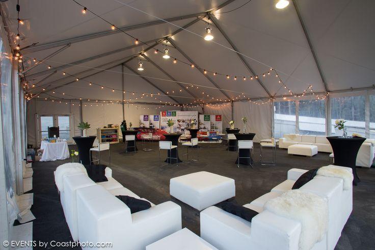 Whistler Sliding Centre Event - White modular Couches
