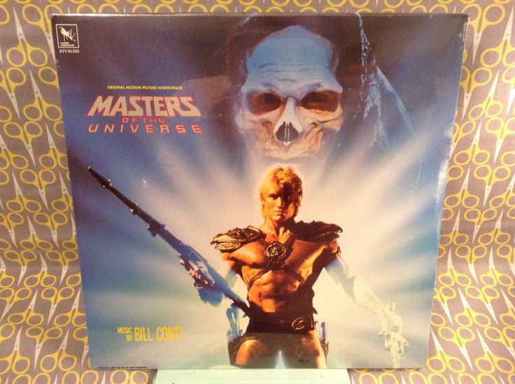 Sealed Rare Vinyl Record LP Masters of the Universe - Original Soundtrack - Bill Conti - He-Man Classic Sci Fi Fantasy