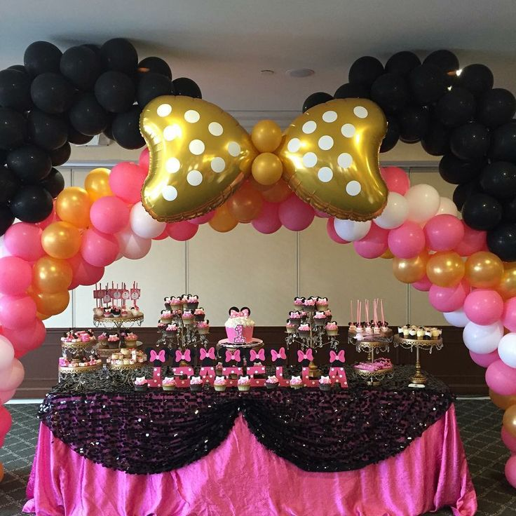 Minnie mouse balloon arch balloon arches pinterest for Balloon decoration minnie mouse