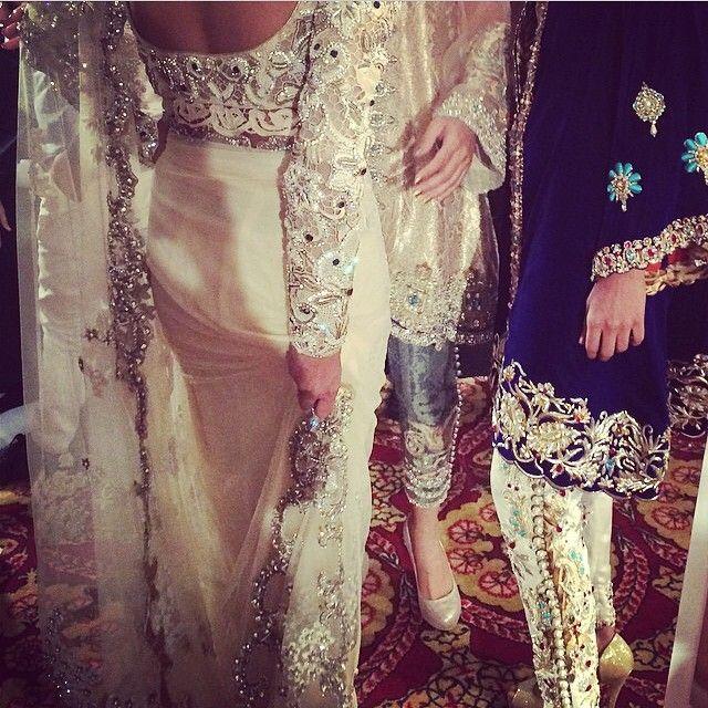 Different style outfit ----------------------------- Desi Weddings. White sari.