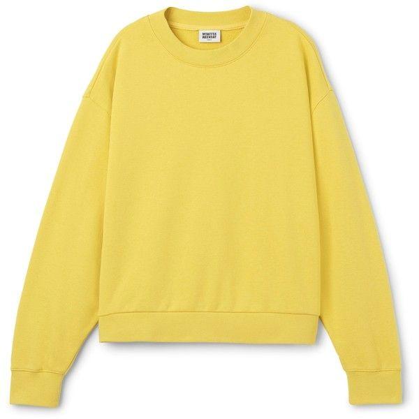 Huge Cropped Sweatshirt ❤ liked on Polyvore featuring tops, hoodies, sweatshirts, yellow long sleeve top, long sleeve crop top, yellow top, cropped sweatshirt and oversized sweatshirt