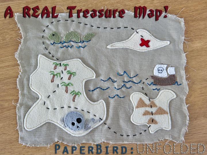 Felt and embroidery treasure map!