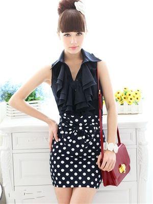 Polka Dot Pencil Skirt Price: $27.95 Qualifies for free shipping #skirt #fashion