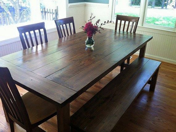 Our traditional farmhouse table is handcrafted from for Yellow farmhouse table