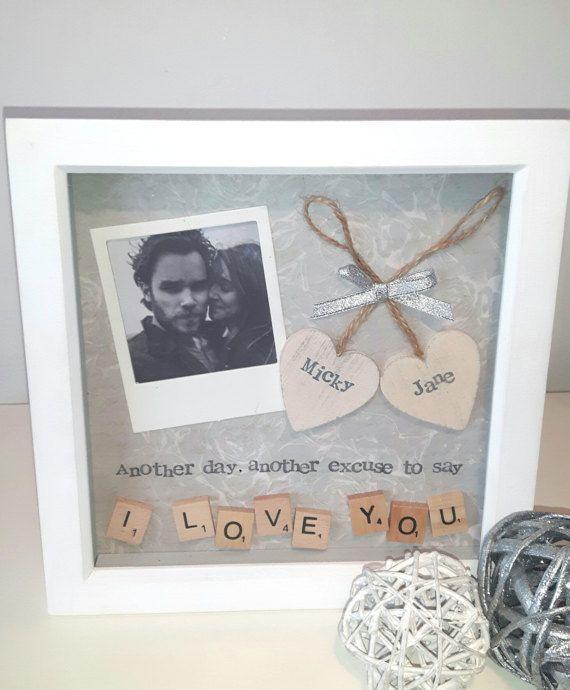 Geburtstagsgeschenk, Geschenk zu sagen, ich liebe dich, personalisierte Rahmen, …