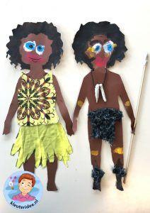 bambini artigianato africano, idea vivaio, tema Africa 5.
