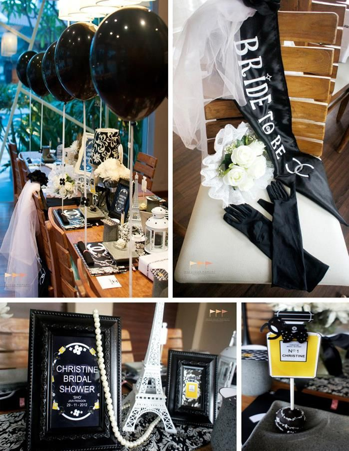 wedding party decorations and supplies chanel bridal shower bachelorette planning ideas 9846
