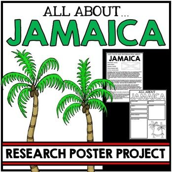Jamaica: Research Poster ProjectJamaica Research Poster Project is a fun and engaging way for students to demonstrate their knowledge of this interesting island!One detailed page of information on Jamaica is included.  This included key facts and information about Jamaica.