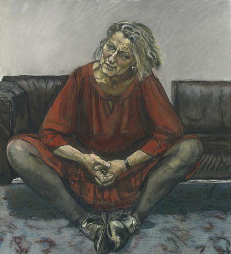 Paula Rego : Germaine Greer. Pastel s/ papel, 1995