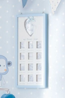 Buy Cheeky Monkey Blue First Year Collage Frame from the Next UK online shop
