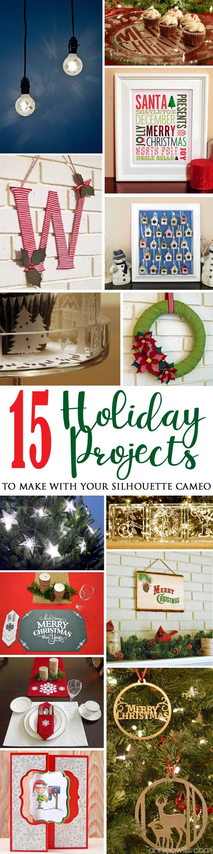 15 Holiday Projects to Make with Your Silhouette CAMEO