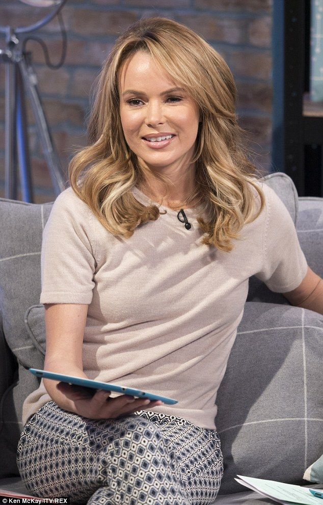 Putting it behind her: Amanda Holden was recently at the centre of a controversy, involving a picture posted on her Twitter page of her daughter Lexi in fancy dress