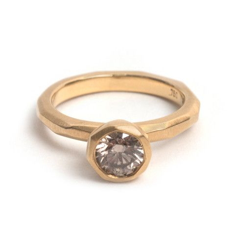Cup Setting Yellow Gold Engagement Ring – Pieces of Eight Gallery