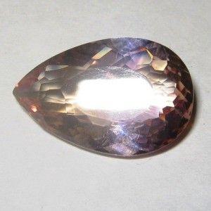 Batu Permata Ametrine 6.15 carat Pear Shape