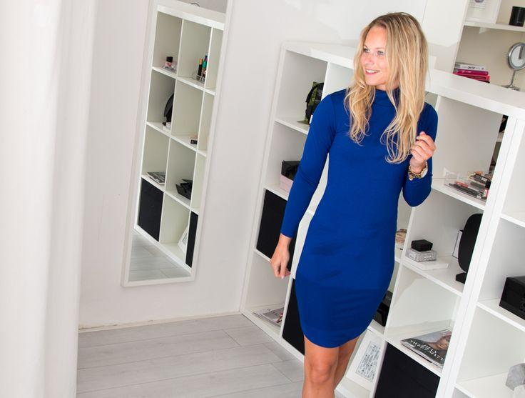 jurk koningsblauw