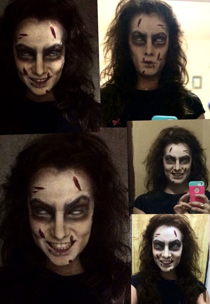 Halloween makeup Creepy girl Exorcist  Maquillaje para Halloween