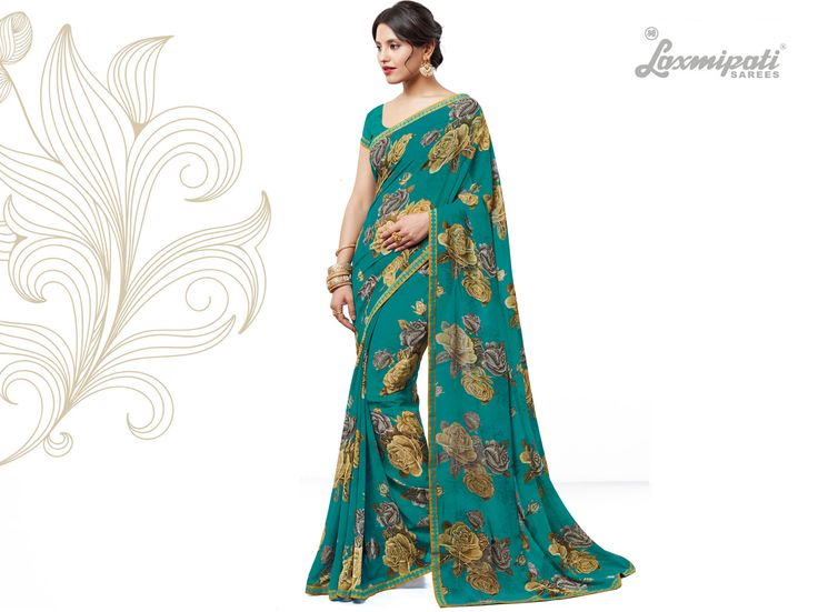 Get this Beautiful Dark Green #Georgette #Saree with Fancy Printed Dark Green Blouse along with Bhagalpuri #Silk Printed Lace Border from #LaxmipatiSaree. #Catalogue #SURPREET  Price - Rs. 1331.00 Visit for more designs@ www.laxmipati.com #Bridal #ReadyToWear #Wedding #Apparel #Art #Autumn #Black #Border #CasualSarees #Clothing #ColoursOfIndia #Couture #Designer #Designersarees #Dress #Dubaifashion #Ecommerce #EpicLove #Ethnic #Ethnicwear #Exclusivedesign #Fashion #Fashionblogger #
