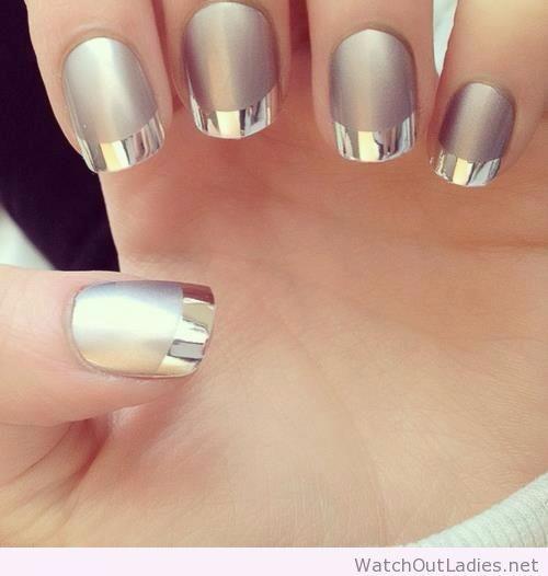 Mis nuevas uñas cromadas