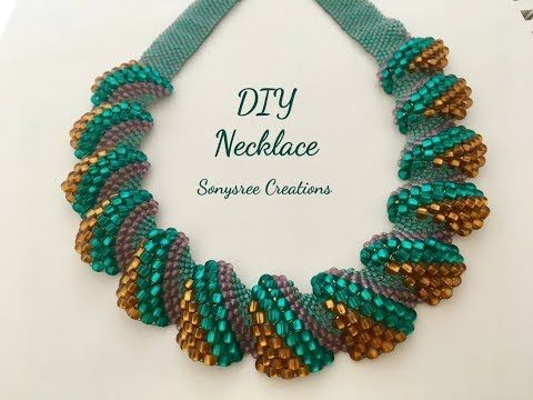 Beautiful Beaded Necklace or Anklet..( Herringbone Stitch) - YouTube