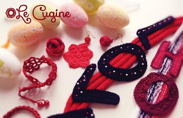 #bijoux #lecugine #handmade #pasqua #fattoamano #uncinetto #tricottino #crochet #creazioni # collana #bracciale #orecchini #pietre