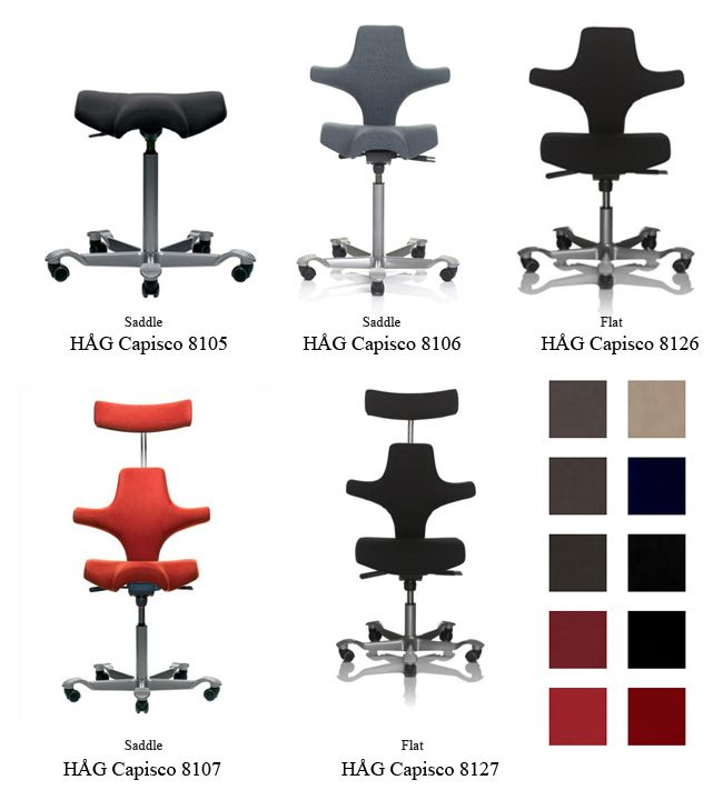 Capisco chair for rise and fall desks