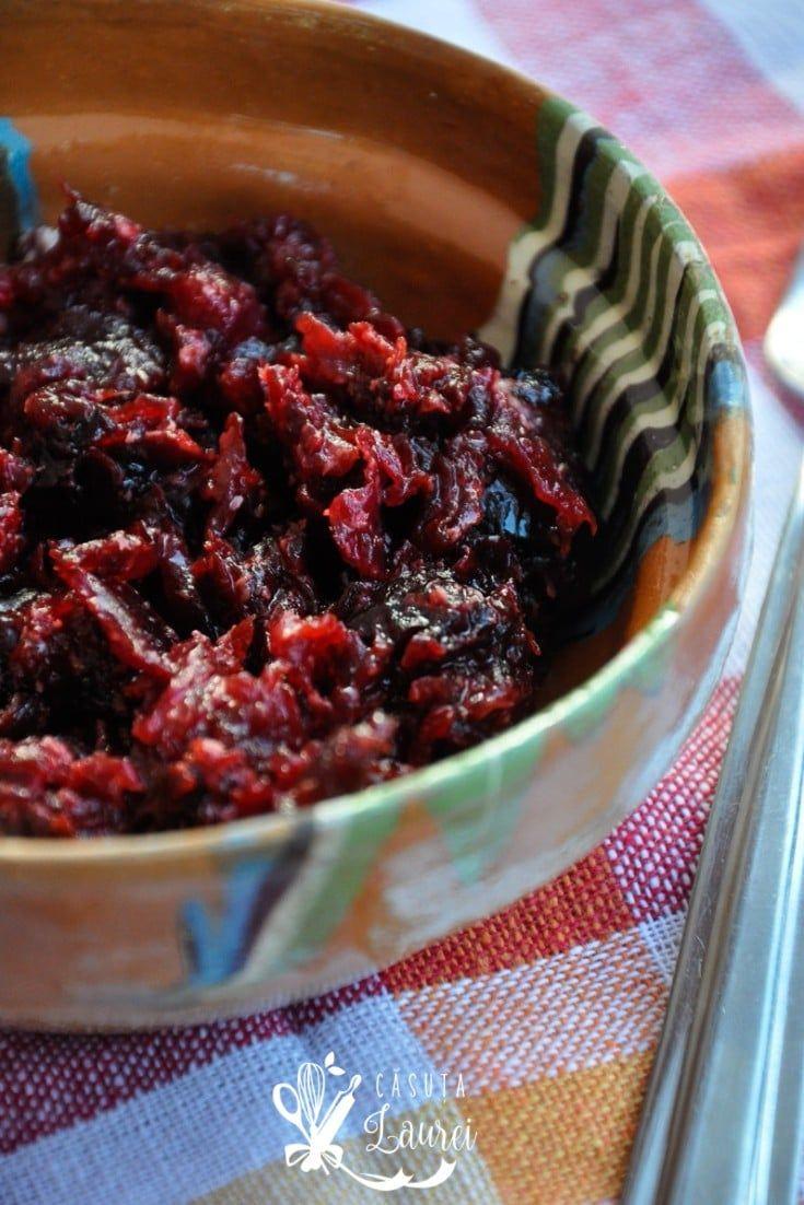 Salata de sfecla rosie cu hrean, sanatoasa si simplu de preparat