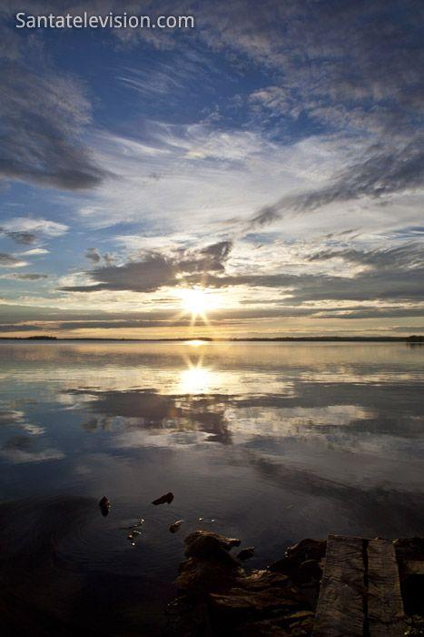 Coucher de soleil à Ranua en Laponie Finlandaise