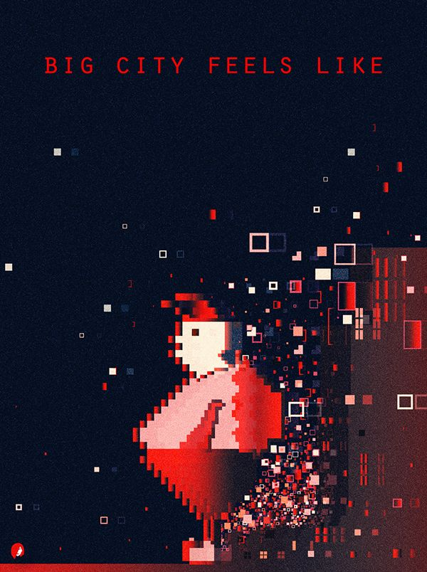 behance poster illustration city