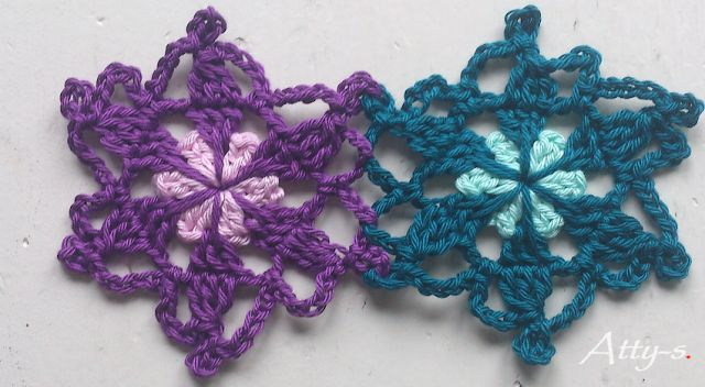 atty's: Crochet Flower Scarf made with leftovers
